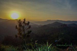 Západ slnka z vrchu Little Adam´s Peak