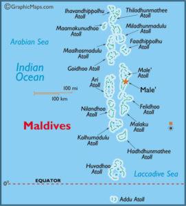 Maldivy - mapa