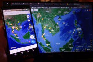 google maps app vs desktop