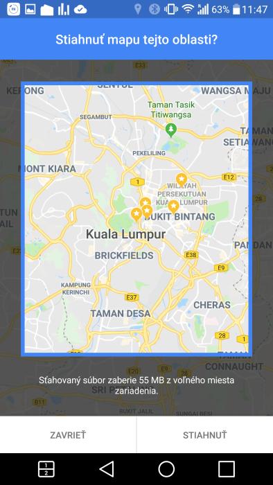 google maps - offline