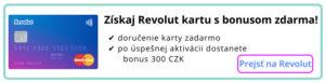 revolut + 300czk bonus